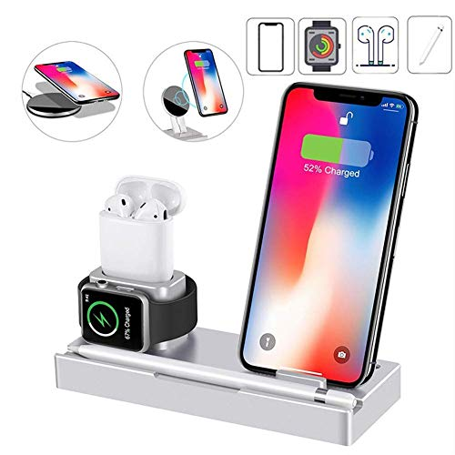 3 in 1 Wireless Charger Station,Qi Fast Charging Stand,Wireless Charging Pad for iPhone 11 Pro/XS Max/XR/X/8 Plus/IWatch/AirPod/Apple Pencil/Samsung S10/S9