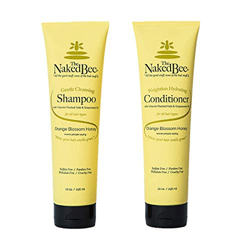 The Naked Bee Orange Blossom Honey Shampoo and Conditioner Set of 2, 10 oz