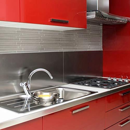 Keuken-/afzuigkap, geborsteld roestvrij staal, 304 l, dikte 1 mm H 750 mm x L 650 mm