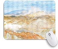 ECOMAOMI 可愛いマウスパッド マーブルローリングヒルズクラウドスカイマーブルアゲート 滑り止めゴムバッキングマウスパッドノートブックコンピュータマウスマット