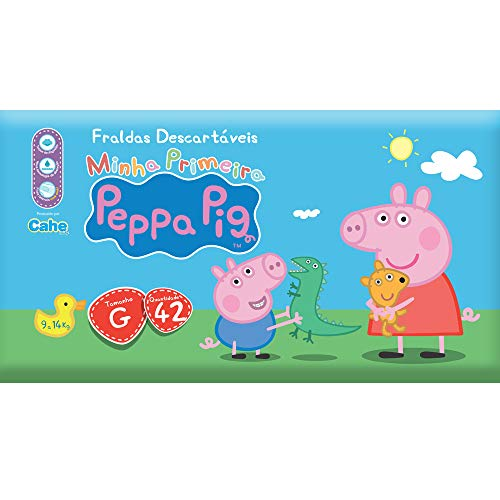 Fralda Econômica, Peppa Pig, G, Pacote de 42