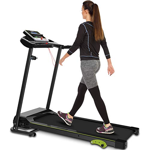 Folding Treadmill Indoor Jogging Machine Cardio Training Walking Machine with Incline Sports Easy Assembly Ideal for Office & Home Use Exercise