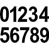 20 Stück 10cm schwarz Ziffer Ziffern Zahl Zahlen Nummer Hausnummer Aufkleber die cut Tattoo Deko Folie