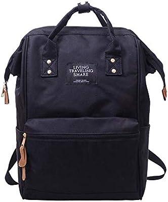 Backpack Living Travelling Share UniSolid School Travel Bag Double Shoulder Zipper 2017d22