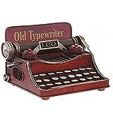 HOGAR Y MAS Máquina de Escribir Metal Antigua, Figuras Decorativas Vintage. Decoración Máquina Escribir Figura 17X17X13 cm - Rojo