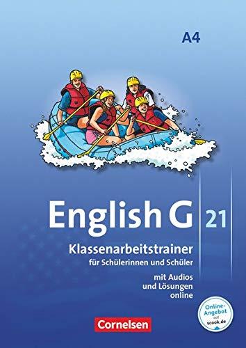 English G 21 - Ausgabe A / Band 4: 8. Schuljahr - Klassenarbeitstrainer mit Lösungen und Audios online: Klassenarbeitstrainer mit Audios und Lösungen online