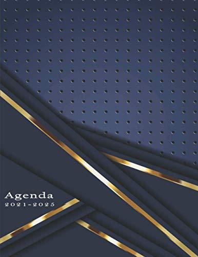 Agenda 2021-2025: Agenda 2021 2025 A4, XXL Agenda mensual - Dos Páginas por Mes - Tamaño 21x28cm / DIN A4 - Agenda en español - Agenda diaria 2021/2025 - Enero 2021 a Diciembre 2025