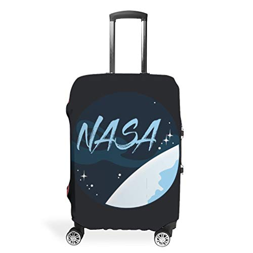 NASA - Suitcase Protector Foldable Anti-Scratch Fits 18-32 Inch for Wheeled Suitcase Over Softsided NASA White 26-28in