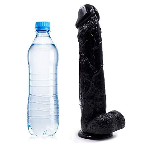 DaDou Yyss 13 inch groot groot formaat dikke flexibele medisch-Grade Stick invoegen vleugel zwart DaDou