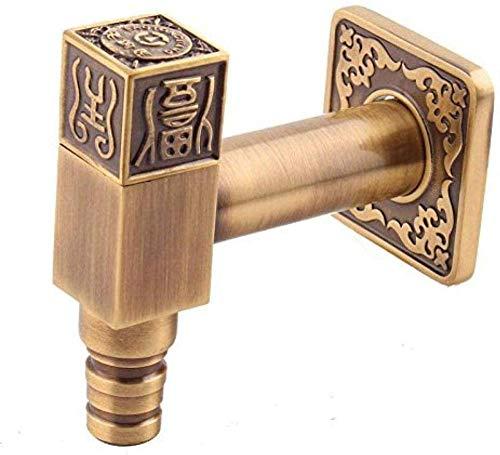 WLHLFL Grifo Exterior Grifería de Lavabo Cobre Lavadora Gruesa Maciza Europea Cobre Grifo de Piscina Núcleo de cerámica Grifo de jardín Grifo Exterior