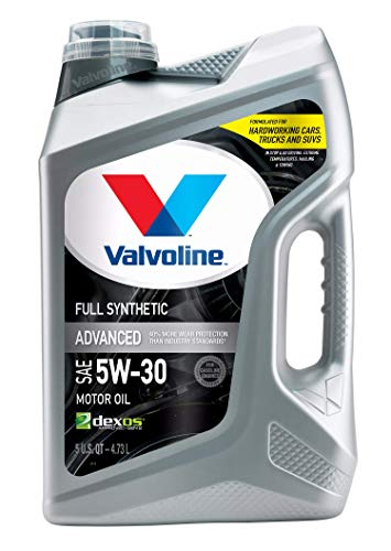 Valvoline - 881164-EA Advanced Full Synthetic SAE 5W-30 Motor Oil 5 QT