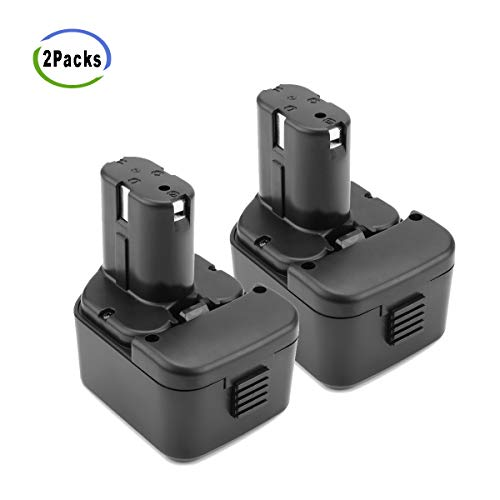 Creabest 2 Pack 12V 3500mAh Ni-MH Replacement Battery for Hitachi EB1214S EB1212S EB1214L EB1220BL EB1220HS EB1222HL EB1226HL EB1230HL BCC1212 EB1220RS EB1222HL EB1226HL 324360 EB1230HL
