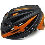 MAZI Casco de Ciclo sobredimensiona Nueva Bicicleta de montaña Grande de la Circunferencia de Casco de equitación de la Cabeza circumference60-64cm,Black Orange