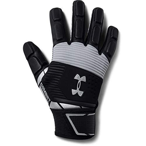 Under Armour Men's Combat - Nfl Football Gloves, Black (001)/White, Large