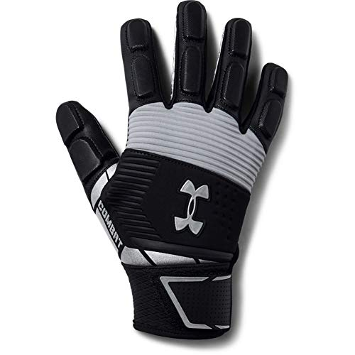 Under Armour Men's Combat - Nfl Football Gloves, Black (001)/White, Large