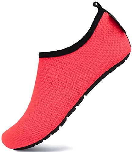 SAGUARO Niños Zapatos de Agua Descalzo Barefoot Respirable Calcetines de Natación Aire Libre Piscina de Playa Surf Yoga Calzado