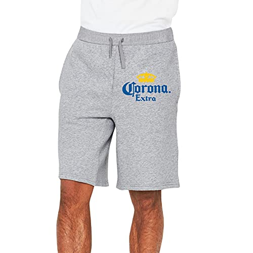 Corona and Extra Beer Men's Soft Casual Athletic Shorts Pants Sweatpants with Pocket Gray