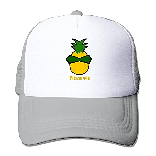 Printed Adult Unisex Pineapple 100% Nylon Mesh Caps One Size Fits Most Adjustable Leisure Hat