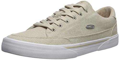 Lugz Men's Stockwell Linen Sneaker, Tan/White, 10 D US