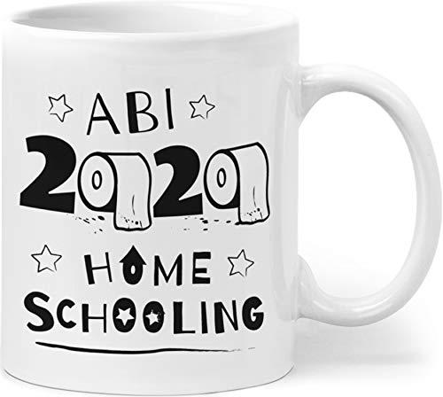 Orange9 Abitur 2020 Tasse - Abi 2020 Geschenk - Abiturgeschenk Home Schooling Toilettenpapier (330 ml)