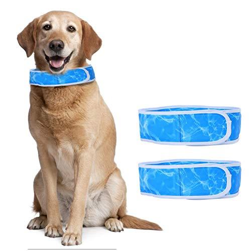 Nobleza - Collar Refrigerante Perro  Paquete de 2 ,Collar refrigerante para Mascotas,Cómodo Collares Perro refrescante,Ajustable Dog Cool Keeper,Azul Talla XL,Apto para Cuello de 60cm a 75 cm