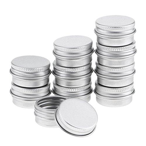 10x 5 ml Tragbar Kosmetik Dose Lebensmittel Behälter Lip Balm Container Makeup Jar, aus Aluminium
