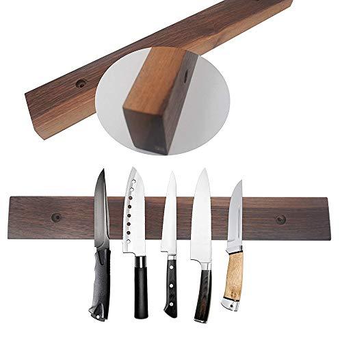 Bamboo 38 cm Magnétique couteau Support Ustensile Rack stockage de couteaux de cuisine bar