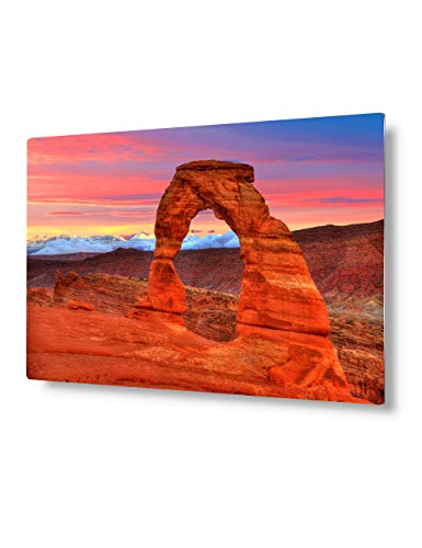 VickyArt -Arches National Park Delicate Arch Sunset in Moab Utah-Metal Prints Wall...