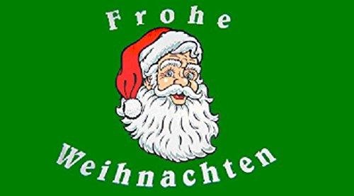 U24 Flagge Fahne Frohe Weihnachten Weihnachtsmann Weihnachtsfahne 90 x 150 cm
