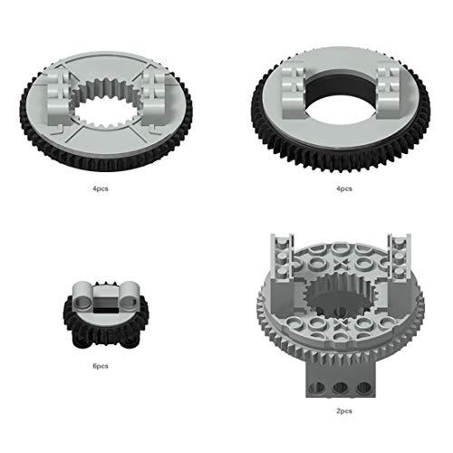 Bulokeliner Technic - Tocadiscos de rueda dentada (32 unidades, compatible con Lego)