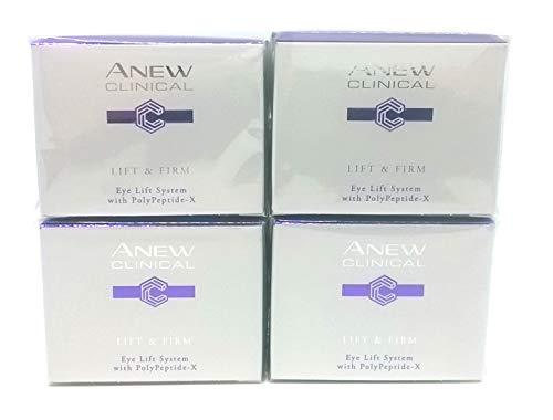 4 x AVON Anew Clinical Lift & Firm 2-Phasen-Augenpflege 20ml SET !