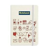 バレンタインデー愛の鳥の心ワイン ノートブッククラシックジャーナル日記A 5