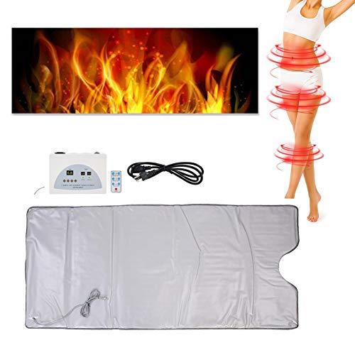 Digitale infrarood sauna verwarming deken controle voor gewichtsverlies Dun lichaam schoonheid thuis, infrarood sauna deken lichaamsvorm fitnessapparaat