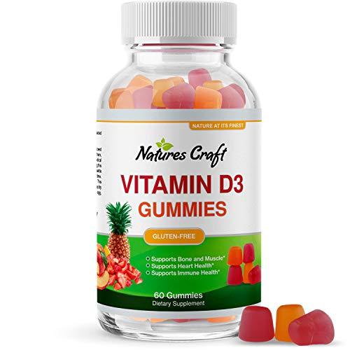 Vitamin D3 Immune Support Gummies - Vitamin D 2000 IU Adult Gummy Vitamins for Bone Strength Heart Health and Immune System Supplement - Vitamin D3 2000IU Immune Vitamins for Adults Immune Booster