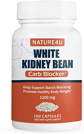 Nature4U White Kidney Bean Supplement Pills Pure Extract Starch Carb Blocker Weight Loss Formula product image