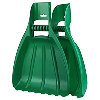 Large Leaf Scoops and Hand Rake Claw Ergonomic Hand Held Garden Rake Grabbers for Picking up Leaves,Grass Clippings and Lawn Debris