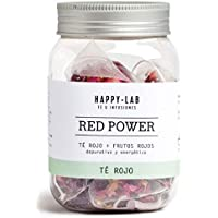 Happy-Lab Red Power Té Infusión - 14 pirámides