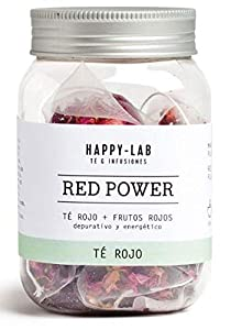 Happy-Lab Red Power Té Infusión - 14 pirámides