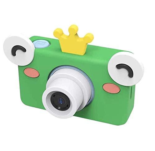 SCRIMEMO Cámara Digital para Niños, Mini Cámara Fotos Digital Portátil Recargable, Anti-caída, 8 Megapíxeles, Pantalla Color LCD de 2 Pulgadas con Tarjeta SD de 16G (Azul Verde)