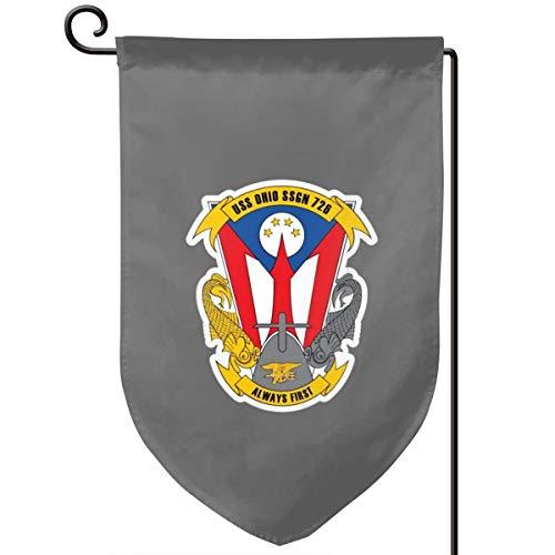 WUDAYI Navy Submarine Ssgn 726 USs Ohio 2 banderas, banderas de bandera