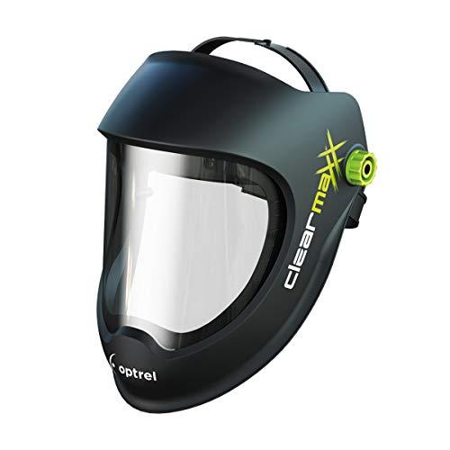 Optrel Clearmaxx Schleifhelm Schutzhelm Gesichtsschutz Schutzbrille Gesichtsvisier Schutzmaske sehr leicht mit großer XXL Sichtscheibe, hoher Tragekomfort durch komfortables Premium Kopfband