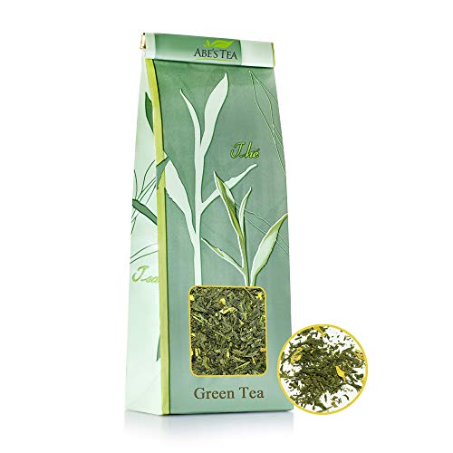 Abe's Tea | Té Verde | Prima De Té De Hojas Sueltas Entero | Pomelo | Sabor: Cítricos | 100 Gram | Antioxidante Natural | Rico En Vitamina C | Las Hojas 100% Natural Procedente De China