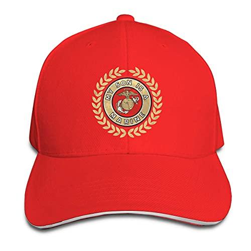 485 Gorra De Béisbol Mi Hijo Es Un Infante De Marina Gorra Deportiva Casual Sombrero De Papá para Mujer Deportes Viaje