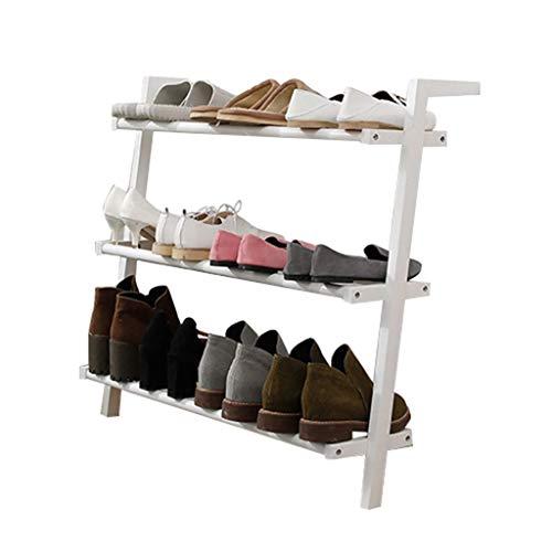 Rack de zapatos 3-niveles Zapato de madera Rack de pie libre Zapatos apilables Almacenamiento Organizador Estantes Ideal para sala de estar Dormitorio Entrada Pasillo de entrada Totalmente moderno Dec