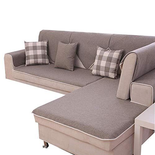Yuany Funda de sofá Muebles Antideslizantes Funda Protectora Paño de Lino Four Seasons Sala de Estar General Simple Mat-Pack DE 1,70 * 210Cm