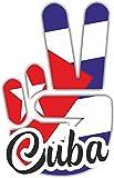 INDIGOS UG - Aufkleber / Autoaufkleber / Sticker - Cuba - Victory - Sieg - Heckscheibe, Kofferraum - 10x8cm