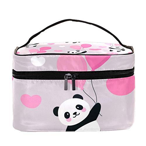 ANINILY Happy Cute Panda Volant Multifonction Organiseur de toilette Portable Sacs cosmétiques Voyage avec poche en filet