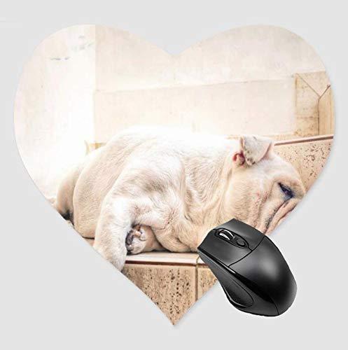 Alfombrilla de ratón para juegos Lazy Dog Desktop and Laptop 1 Pack de alfombrilla de ratón en forma de corazón