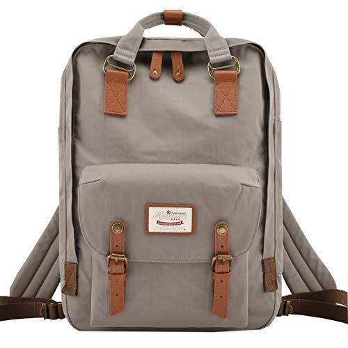 Himawari School Laptop Backpack for College Large 17 inch Computer Notebook Bag Travel Business Backpack for Men Women, Grey