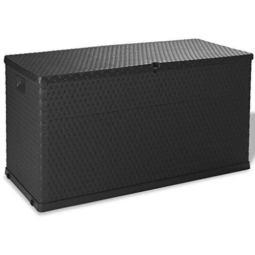 Festnight Patio Garden Storage Box Plastic Deck Box Storage Container Outdoor Garden Furniture 111 Gal
